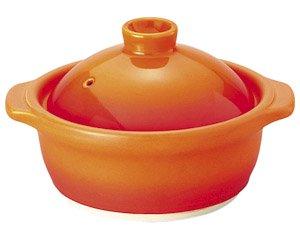 バーニャカウダ フォンデュ 蓋付鍋ベイクオレンジ 洋食器 耐熱食器 バーニャカウダ・フォンデュ 業務用 約15.7cm