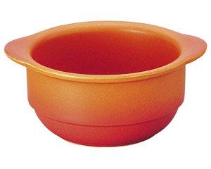 バーニャカウダ フォンデュ 手付きボールベイクオレンジ 洋食器 耐熱食器 バーニャカウダ・フォンデュ 業務用 約14.8cm