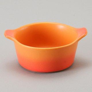 バーニャカウダ フォンデュ ソースポット大ベイクオレンジ 洋食器 耐熱食器 バーニャカウダ・フォンデュ 業務用 ソースポット約16.9cm