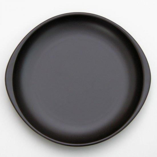 ブラックセラム 陶板 小 洋食器 耐熱食器 ステーキ皿 業務用 約23.5cm 洋食 カフェ 喫茶店