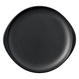 ブラックセラム 陶板 大 洋食器 耐熱食器 ステーキ皿 業務用 約29cm 洋食 カフェ 喫茶店