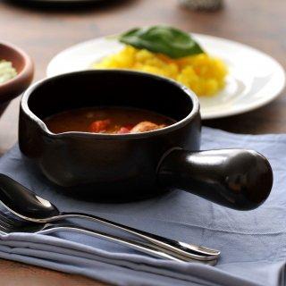 ブラックセラム ミルクパン 小 片手鍋 洋食器 耐熱食器 片手パン 業務用 約23cm 洋食 チーズフォンデュ