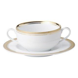 ゴールドリッチ ウルトラホワイト ブイヨン碗皿 洋食器 両手スープ 業務用