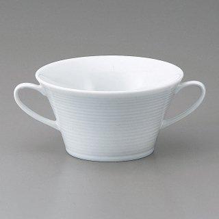 白磁アローネ ブイヨン碗 洋食器 両手スープ 業務用