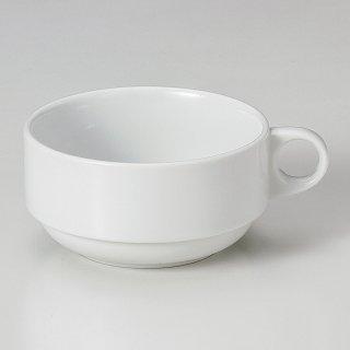 白スタック片手スープカップ 洋食器 片手スープ 業務用