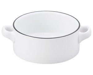 COLORE コローレ ホワイト両手スープグラタン 洋食器 両手スープ 業務用