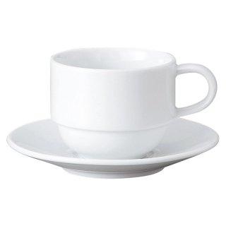 GIGA 白磁強化業務用 スタックコーヒーC/S 洋食器 カップ&ソーサー コーヒー 業務用 喫茶店 珈琲屋 カフェ ケーキ屋