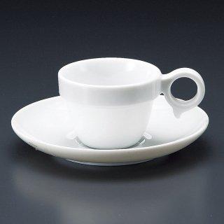 MARU手付きスタックカップ小碗皿 洋食器 カップ&ソーサー コーヒー 業務用 喫茶店 珈琲屋 カフェ ケーキ屋 花柄 シンプル