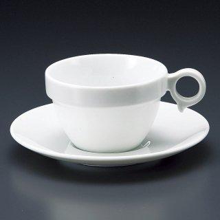 MARU手付きスタックカップ大碗皿 洋食器 カップ&ソーサー アメリカン 業務用 ライトコーヒー シンプル ケーキ屋