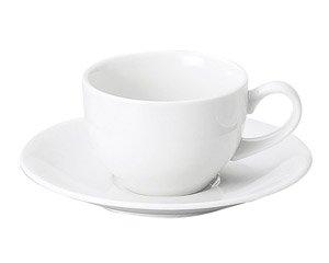 MKホワイト 兼用碗皿 洋食器 カップ&ソーサー 兼用カップ 業務用 ケーキ屋 パン屋 家庭用 シンプル フレンチレストラン