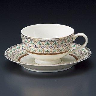 NBヴィオラ紅茶碗皿 洋食器 カップ&ソーサー 紅茶 業務用 洋風 高級感 おしゃれ 花柄 ケーキ屋 イタリアンレストラン