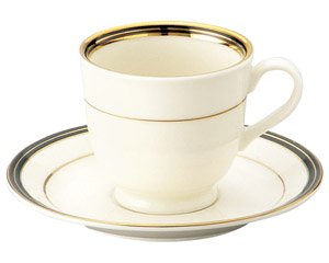 NBエンペラーブラック アメリカン碗皿 洋食器 カップ&ソーサー アメリカン 業務用 高級感 シンプル 白系 ライトコーヒー