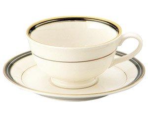 NBエンペラーブラック ティー碗皿 洋食器 カップ&ソーサー 紅茶 業務用 洋風 高級感 おしゃれ 花柄 ケーキ屋