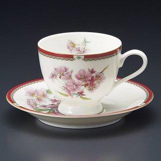 NBサクラコーヒー碗皿 桜 洋食器 カップ&ソーサー コーヒー 業務用 洋風 高級感 ケーキ屋 おしゃれ ベーカリーカフェ