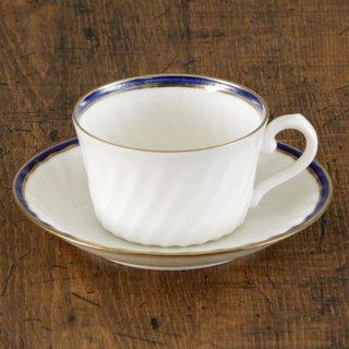 NBブルー紅茶碗皿 洋食器 カップ&ソーサー 紅茶 業務用 洋風 高級感 おしゃれ 花柄 ケーキ屋 イタリアンレストラン