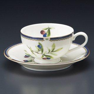 NBプルン紅茶碗皿 洋食器 カップ&ソーサー 紅茶 業務用 洋風 高級感 おしゃれ 花柄 ケーキ屋 イタリアンレストラン