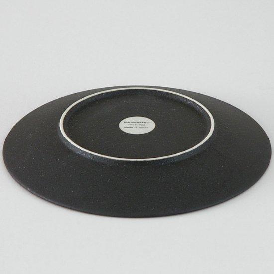カリタ 20cm デザート 黒曜 こくよう 洋食器 丸型プレート(M) 業務用 カネスズ 約20cm 丸皿 中皿 洋食 ライス皿