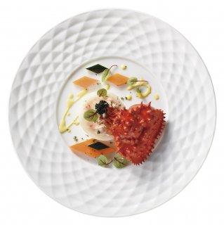 ディナープレートセレクション ダイヤカット 27cm ディナー 白い器 洋食器 丸型プレート(L) 業務用