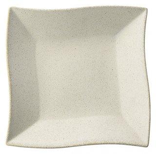 波形23cm 皿 絹衣 きごろも 洋食器 正角プレート(M) 業務用 カネスズ 約22.8cm デザート 前菜 お皿 四角