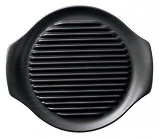 26cm ヘルシーステーキ皿 黒 洋食器 耐熱食器 ステーキ皿 業務用 カネスズ 約L26cm 洋食 カフェ 喫茶店