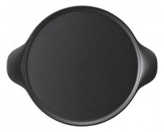 25cm手付ピザプレート 黒 洋食器 ピザ皿 業務用