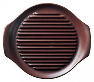 26cm ヘルシーステーキ皿 鉄赤 洋食器 耐熱食器 ステーキ皿 業務用 カネスズ 約L26cm 洋食 カフェ 喫茶店