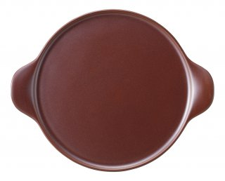 25cm手付ピザプレート 鉄赤 洋食器 ピザ皿 業務用
