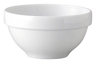 ノーブルホワイト 14cm スタックボール 白い器 洋食器 丸型ボール(S) 業務用 カネスズ 約13.9cm