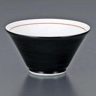黒巻切立深口6.3丼 中華食器 ラーメン丼 業務用 らーめん丼 らーめん鉢 どんぶり 麺鉢 めん鉢 日本製 磁器 約18.8cm
