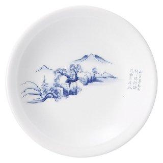上絵山水 4.0皿 中華食器 丸皿(S) 業務用 日本製 磁器 約13cm 取皿 取り皿 小皿 中華皿 おしゃれ