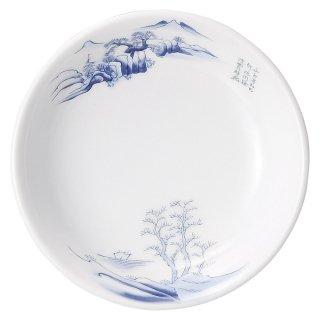 上絵山水 5 1/2吋取皿 中華食器 取皿 業務用 日本製 磁器 約14cm 取り皿 小皿 おしゃれ モダン