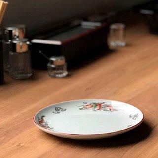 朱渕萬漢龍 8吋丸皿 中華食器 丸皿(M) 業務用 日本製 磁器 約21cm 単品メニュー用 定食用皿 中華皿 プレート 盛皿 エビチリ 酢豚 中国料理