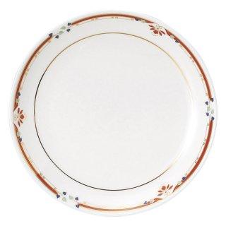 ニューボン紅華妃 6 1/2吋丸皿 中華食器 丸皿(S) 業務用 日本製 磁器 約16.5cm 中皿 菜皿 プレート 中華皿 単品メニュー 一品料理