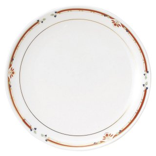 ニューボン紅華妃 8吋丸皿 中華食器 丸皿(M) 業務用 日本製 磁器 約20.8cm 単品メニュー用 定食用皿 中華皿 プレート 盛皿 エビチリ 酢豚 中国料理