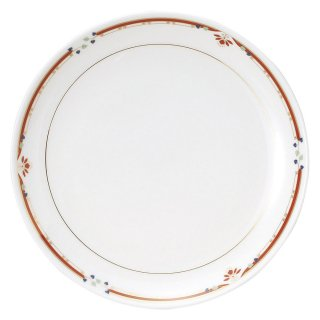ニューボン紅華妃 9吋丸皿 中華食器 丸皿(M) 業務用 日本製 磁器 約23.5cm 単品メニュー用 定食用皿 中華皿 プレート 盛皿 エビチリ 酢豚 中国料理