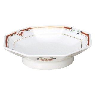 ニューボン紅華妃 7 1/2吋八角皿 中華食器 八角皿 業務用 日本製 磁器 約19cm チャーハン シュウマイ シューマイ 中華皿 プレート 伝統的 昔懐かし