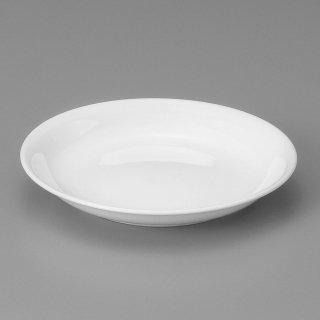 強化白20cm浅皿 中華食器 丸皿(M) 業務用 日本製 強化磁器 約20.4cm 単品メニュー用 定食用皿 中華皿 プレート 盛皿 エビチリ 酢豚 中国料理