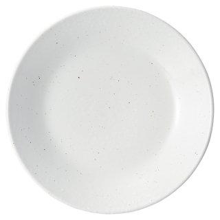 白粉引 8.0皿 中華食器 丸皿(M) 業務用 日本製 磁器 約24.6cm 単品メニュー用 定食用皿 中華皿 プレート 盛皿 エビチリ 酢豚 中国料理