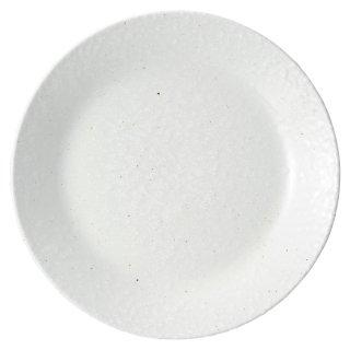 白粉引 7.0皿 中華食器 丸皿(M) 業務用 日本製 磁器 約21.6cm 単品メニュー用 定食用皿 中華皿 プレート 盛皿 エビチリ 酢豚 中国料理