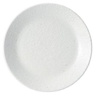 白粉引 6.5皿 中華食器 丸皿(S) 業務用 日本製 磁器 約19.8cm 中皿 菜皿 プレート 中華皿 単品メニュー 一品料理 肉皿 焼肉店 定番 スタンダード
