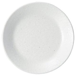 白粉引 5.5皿 中華食器 丸皿(S) 業務用 日本製 磁器 約17.2cm 中皿 菜皿 プレート 中華皿 単品メニュー 一品料理 肉皿 焼肉店 定番 スタンダード