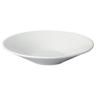 白粉引 5.5深皿 中華食器 丸皿(S) 業務用 日本製 磁器 約17.5cm 中皿 菜皿 プレート 中華皿 単品メニュー 一品料理 焼肉店 定番 スタンダード