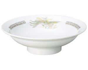 雷門鳳凰 7.0丸高台皿 中華食器 丸高台皿 業務用 日本製 磁器 約22cm 1人前用 中華皿 天津飯 中華飯 マーボー飯 昭和レトロ