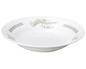 雷門鳳凰 8吋スープ皿 中華食器 丸皿(M) 業務用 日本製 磁器 約21cm 単品メニュー用 定食用皿 中華皿 プレート 盛皿 エビチリ 酢豚 中国料理