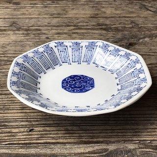 中華青壽 シューマイ皿 中華食器 八角皿 業務用 日本製 磁器 約18.5cm チャーハン シュウマイ シューマイ 中華皿 プレート おしゃれ モダン