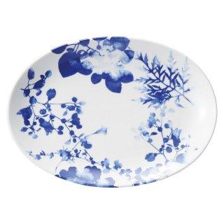 フローラル 12吋プラター 皿 プレート 中華食器 プラター(L) 業務用 楕円皿 日本製 磁器 約31.5cm 中華皿 大皿 盛皿 バイキング ビュッフェ ホテル 旅館 宴会皿