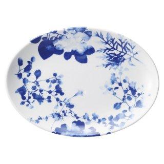 フローラル 10吋プラター 中華食器 プラター(M) 業務用 楕円皿 日本製 磁器 約26.3cm 大き目 中華皿 餃子皿 ギョーザ皿 餃子用 楕円プレート 小判皿 大皿 おしゃれ