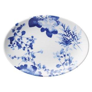 フローラル 9吋プラター 中華食器 プラター(M) 業務用 楕円皿 日本製 磁器 約23.5cm 中華皿 餃子皿 ギョーザ皿 餃子用 楕円プレート 小判皿 オーバル おしゃれ