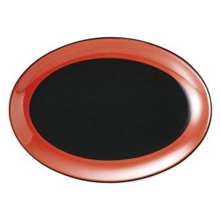 敦煌 9吋プラター 中華食器 プラター(M) 業務用 楕円皿 日本製 磁器 約23.2cm 中華皿 餃子皿 ギョーザ皿 餃子用 楕円プレート 小判皿 オーバル 焼肉店 肉皿