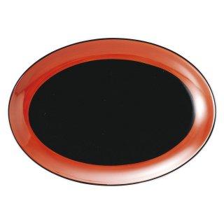 敦煌 10吋プラター 中華食器 プラター(M) 業務用 楕円皿 日本製 磁器 約26cm 大き目 中華皿 餃子皿 ギョーザ皿 餃子用 楕円プレート 小判皿 大皿 焼肉店 肉皿